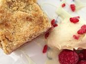 Barritas melocotón frambuesas (peach raspberry crumb bars)