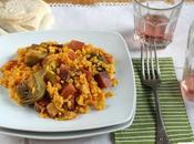 recetas arroz sencillas para alegrar familia: jamón verduras pollo