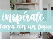 Inspírate: cocina blanca toques MINT