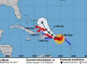 Huracán María empezaría sentir esta noche República Dominicana.