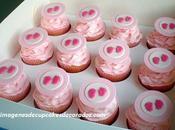 Cuatro imagenes decoracion cupcakes baby shower