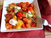 Ensalada tibia tomates Sherry mozzarella
