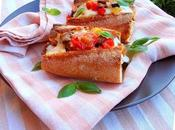 Ratatouille mozzarella baguette caliente
