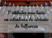 actividades para hacer calendario adviento Halloween