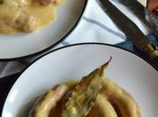 Salchichas Frescas Crema Cebolla Vino
