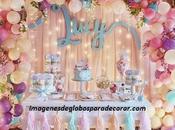 Hermosas fotos arreglos globos para cumpleaños niña