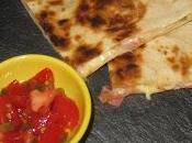 Quesadilla bacon, quesos jalapeños