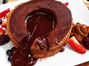 Torta volcán chocolate circular