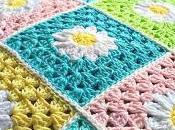 Cojín hecho completamente Crochet parte delantera posterior)