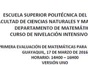 Solución Primera Evaluación Matemáticas para Ingenierías ESPOL Intensivo 2016