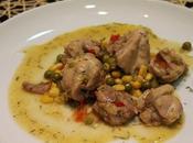 Pollo maíz guisantes