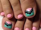 Imagenes modernos lindos diseños uñas para pies facil