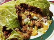 Repollo relleno carne Fagotto verza ripiena salsiccia