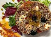 Ensalada quinoa vinagreta tomates secos