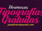 Hermosa colección Tipografías profesionales gratuitas