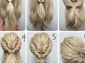 Cuatro imagenes peinados faciles bonitos paso