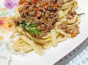 Maccheroni boloñesa cordero