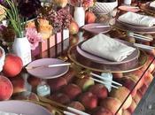 Wedding Inspiration: mesa banquete boda decorada frutas temporada