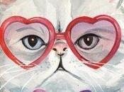 Dibujos imagenes gato lentes psicodelicos hipster