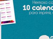Descarga calendarios 2018 gratis editables para imprimir