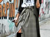 falda midi abotonada cuadros