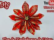 Diy. Flor Nochebuena Liston