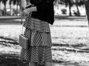 Black beret vichy skirt