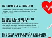 Infografía para proteger datos salud organizaciones sanitarias.