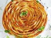 Tarta manzana enrollada