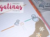 Freebie: pegatinas Invierno