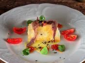 Bocado queso anchoas crujiente vinagreta trufa