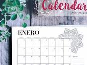 Freebie: calendario 2018 imprimible