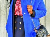 Blue coat striped shirt