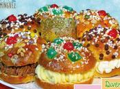 Divertido Roscón Reyes relleno sabores, nata, trufa crema pastelera