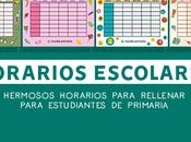 Descarga mejores horarios escolares para imprimir gratis 2018
