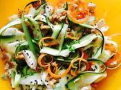 Ensalada fresca calabacín, hinojo, zanahoria mozzarella