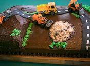 """Tarta """"camiones obra"""", fantástica sorpresa cumpleaños"""