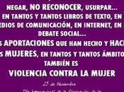 Noviembre, Internacional Eliminación Violencia contra Mujer