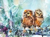 Pinturas acuarela animales mujeres Alam
