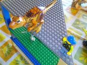 Bases apilables compatibles Lego dinosaurios Jurassic World