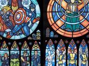 Vidrios colores como iglesias pero superheroés