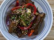 Recetas japonesas: Como preparar seitán verduras Taka Sasaki