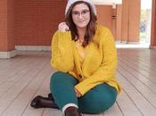 Yellow Green Outfit curvy Plus size woman