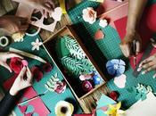 Collage niños: materiales para actividad estilo Reggio Emilia
