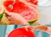 Sandía gelatina