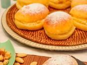 Bollos suizos rellenos crema mantequilla