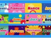 Months Year. meses Inglés. Canciones juegos