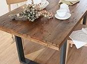 Mesa madera cristal Feng Shui
