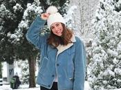 Outfit para nieve cazadora vintage