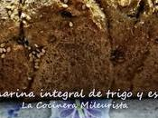molde harina integral trigo espelta nueces